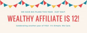 Wealthy Affiliate 12th anniversary