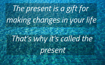"image of the quote ""the present is a gift"". What is the best business to start"