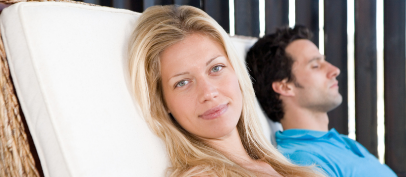 image of couple relaxing