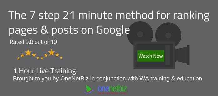 21 minute ranking method on google