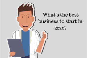 image of a man asking the best business to start in 2020